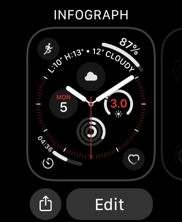 Editar la carátula del Apple Watch