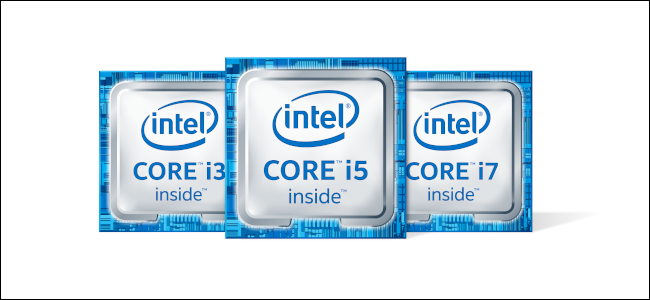 Los logotipos de Intel Core i3, i5 e i7.