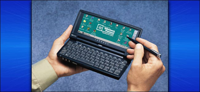 Un HP Jornada con Windows CE
